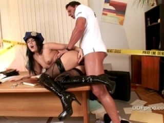 Madison Parker a sexy cop babe...